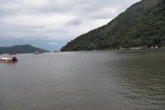 Desembarcando em Paraty-Mirim.
