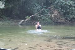 Mergulho refrescante.