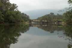 Início da subida do rio Jaguareguava.