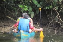 Subindo o rio Jaguareguava. Distração e a perda de direção.