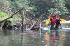 Descendo o rio Jaguareguava.