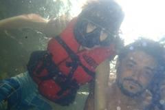 Curtindo o snorkeling.