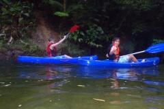 Descendo o rio Jaguareguava, no retorno.