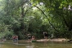 Panorâmica da confluência dos rios.